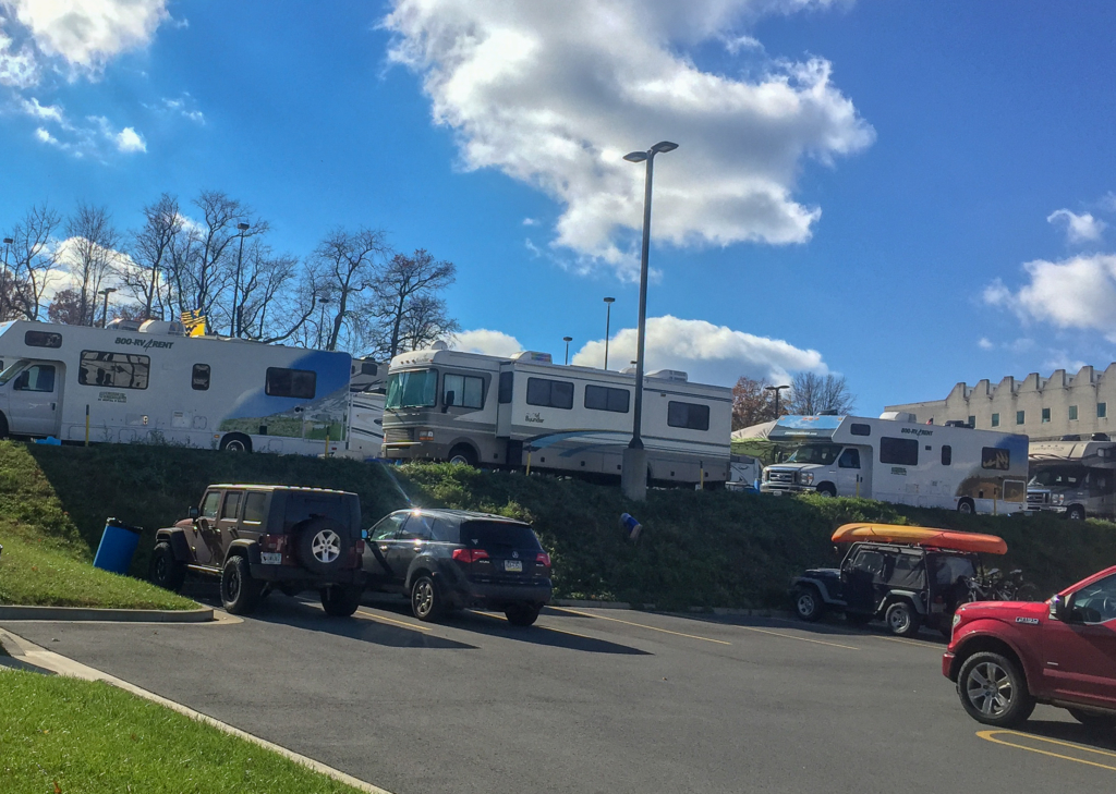 West Virginia football game by RV