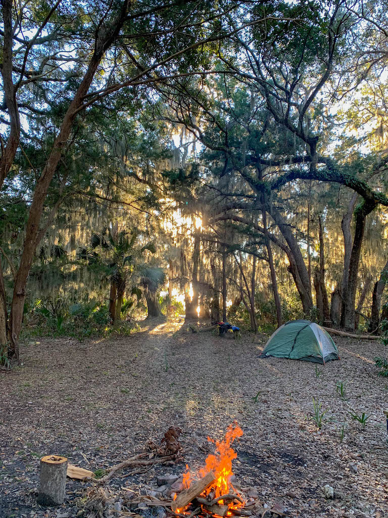 Hunt Camp Cumberland Island - our Kayak Camping site