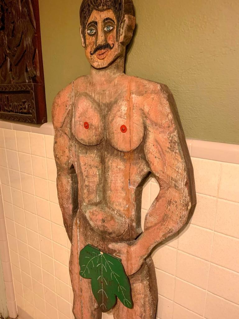 Manci's Antique Club Bathroom Art