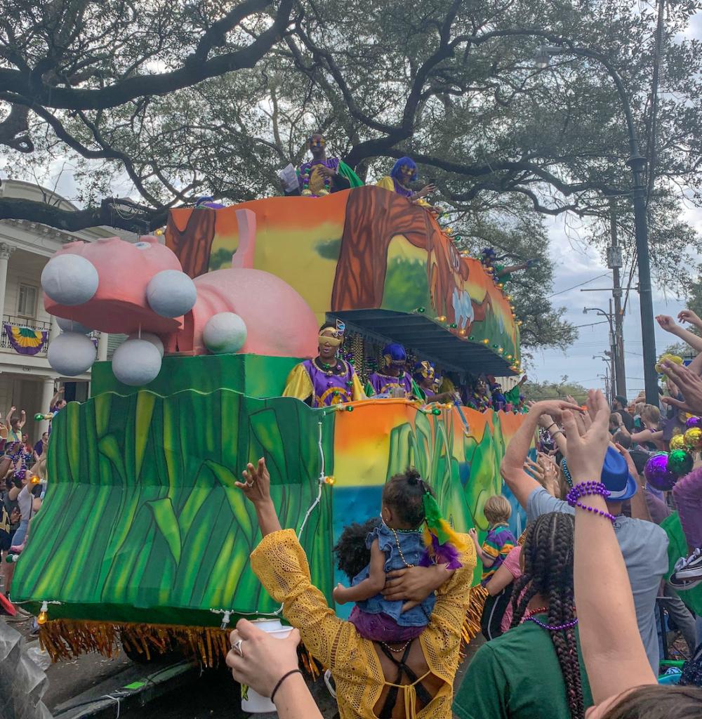 Afternoon Mardi Gras parades