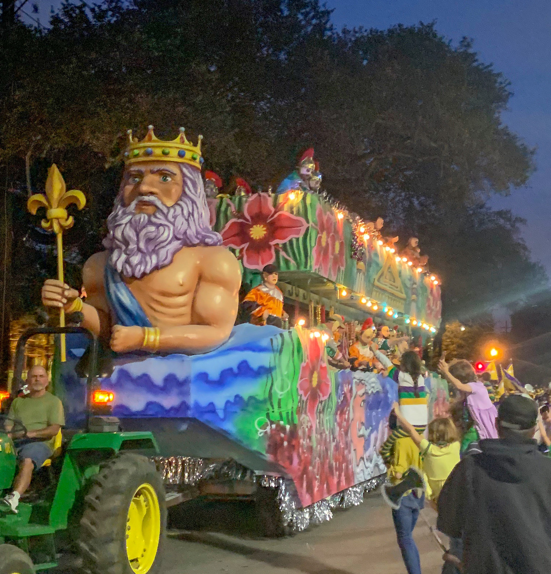 float in the mardi gras parade