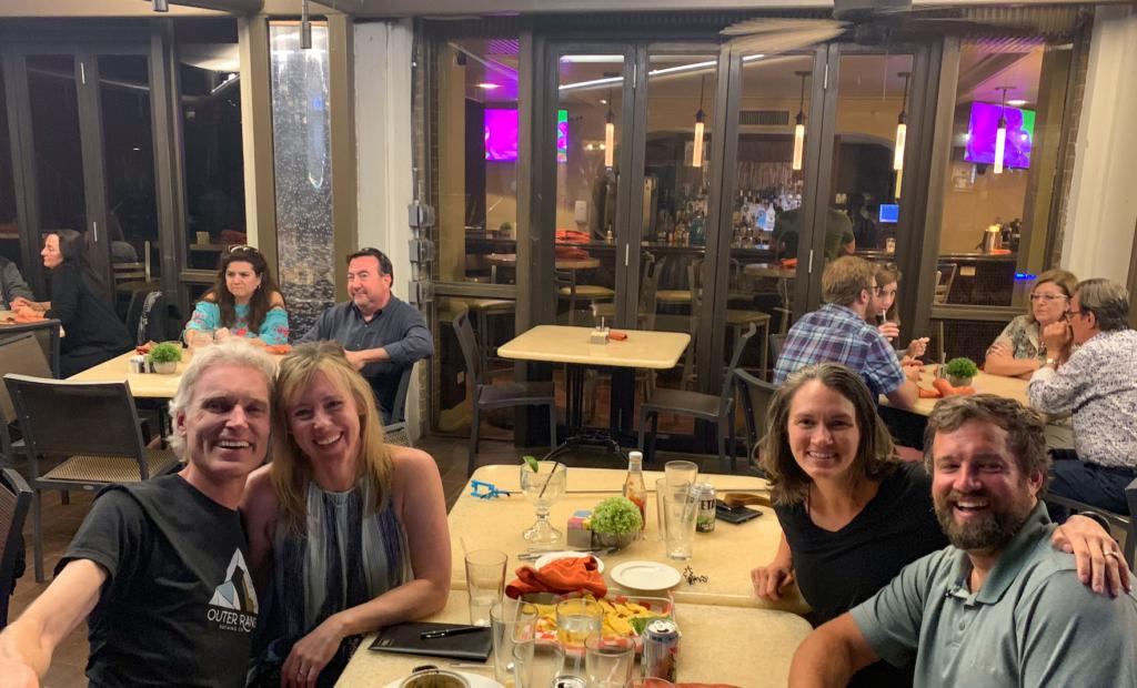 dinner with friends at the San Antonio Riverwalk