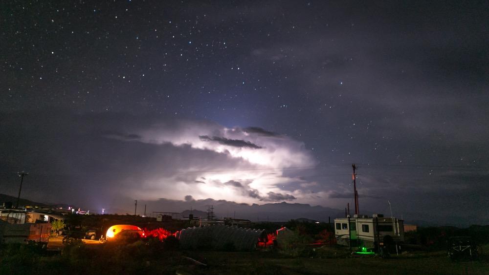 Evening storm in Terlingua