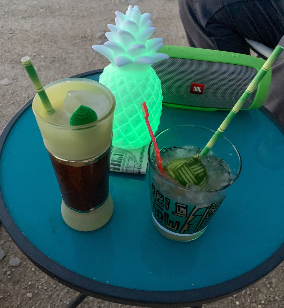 Tiki drinks in Terlingua