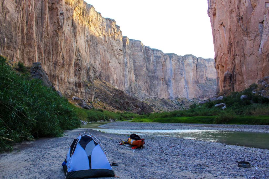 Santa Elena Canyon kayak camping site