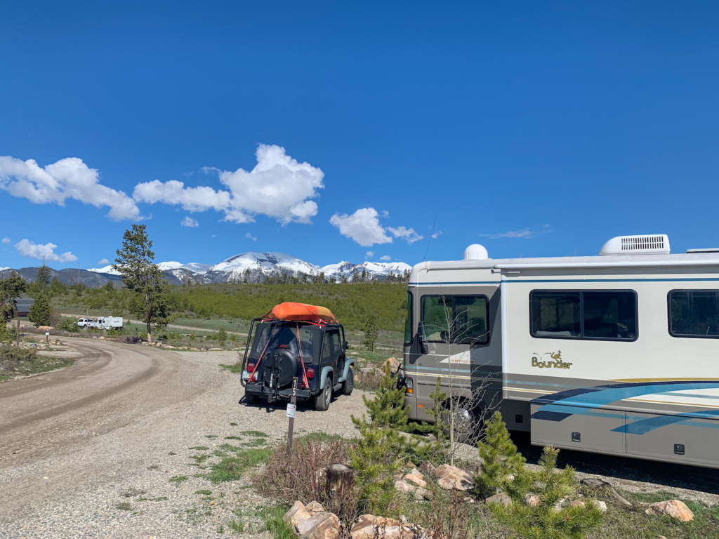 Our site at Lowry Campground