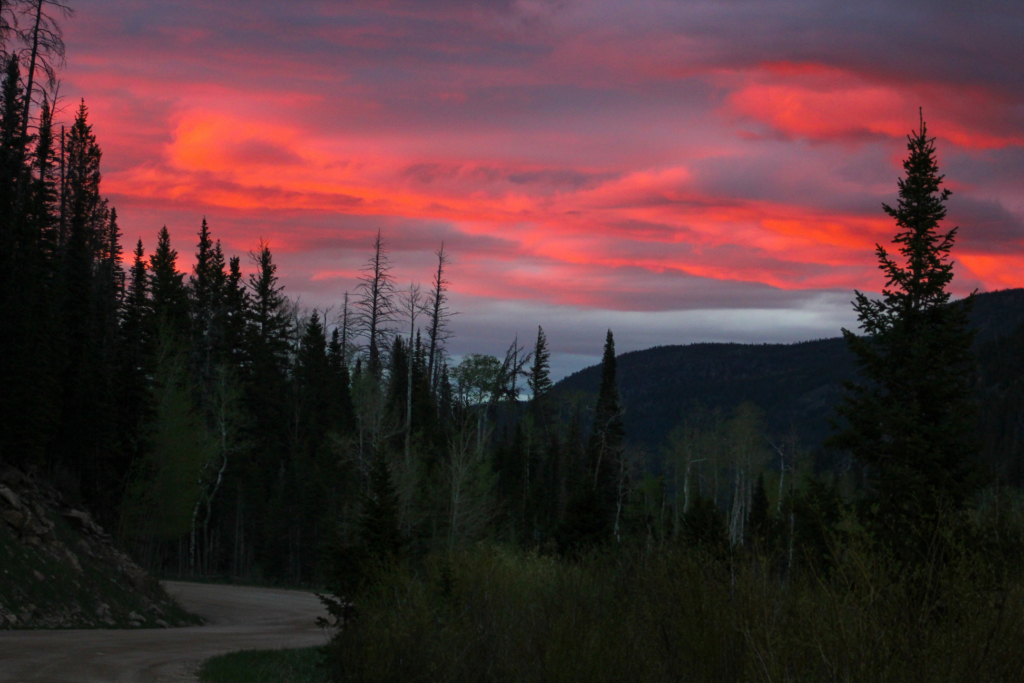 Sunset in Poudre Canyon