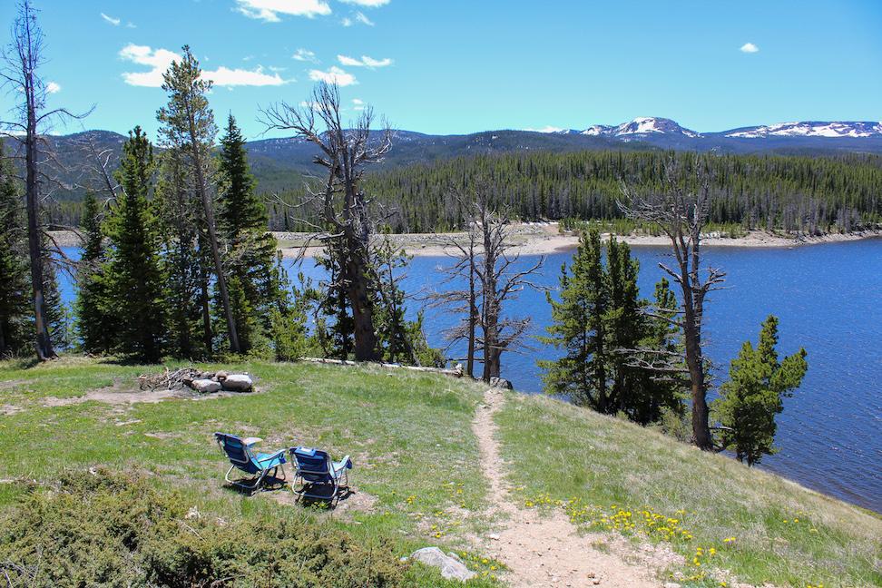 Overlooking Chamber Lake