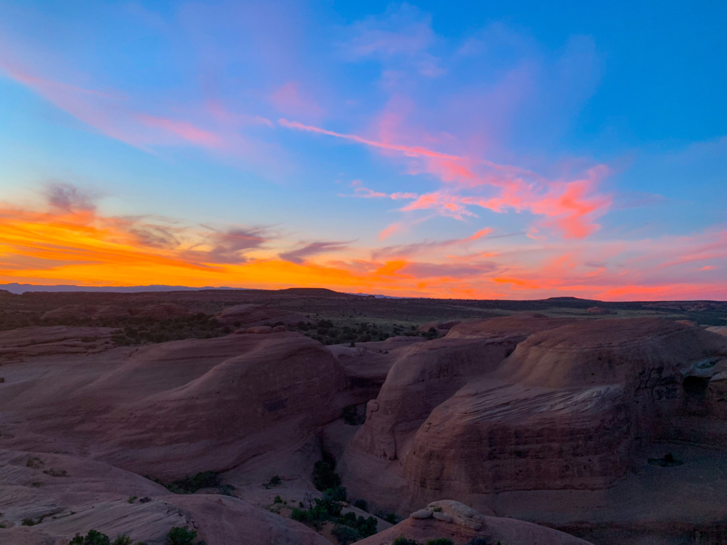 Arches National Park Sunset at Delicate Arch