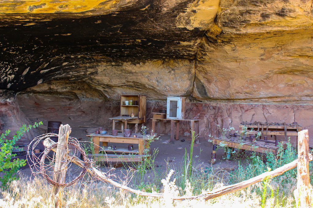 Cave Spring Cowboy Camp in Needles District of Canyonlans