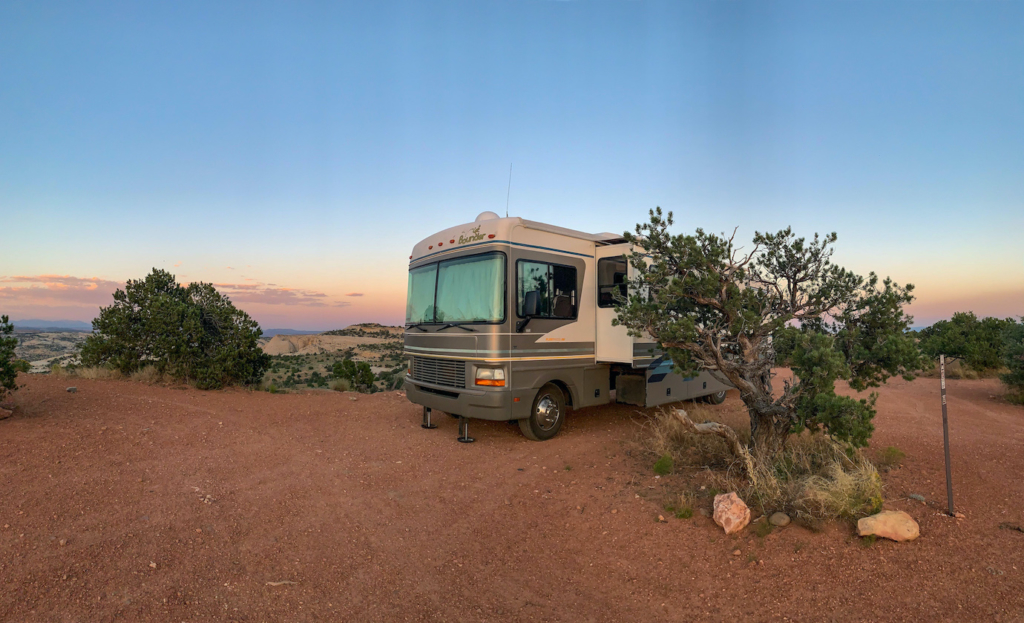 Our boondocking site in Boulder UT