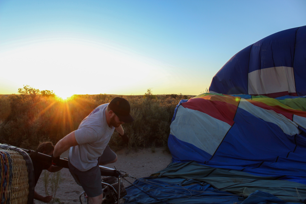 Hot Air Balloon Layover Landing