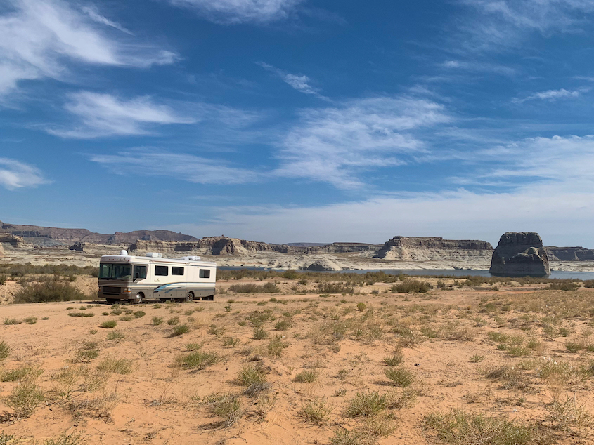 RV to Lone Rock Beach on Lake Powell