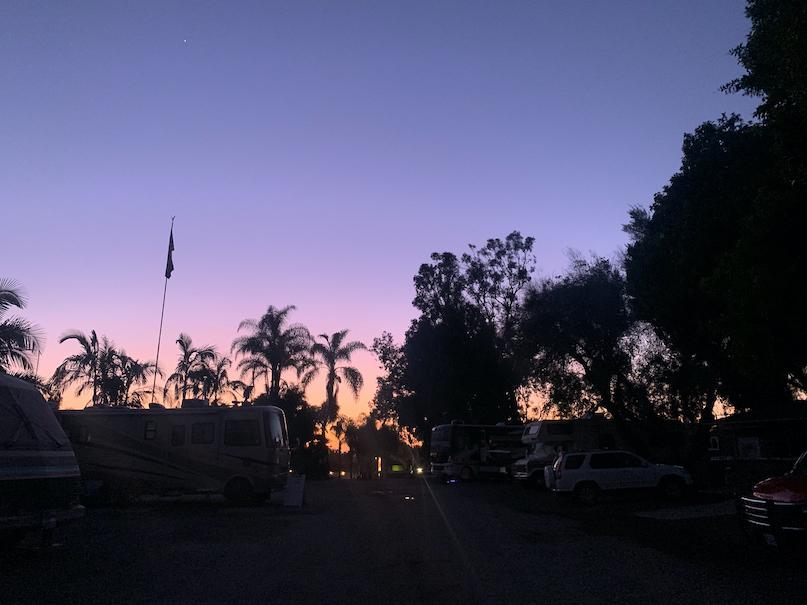 Vista Elks Lodge RV Park Sunset