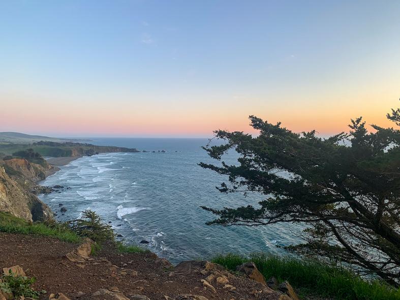 Big Sur Boondocking Sunset