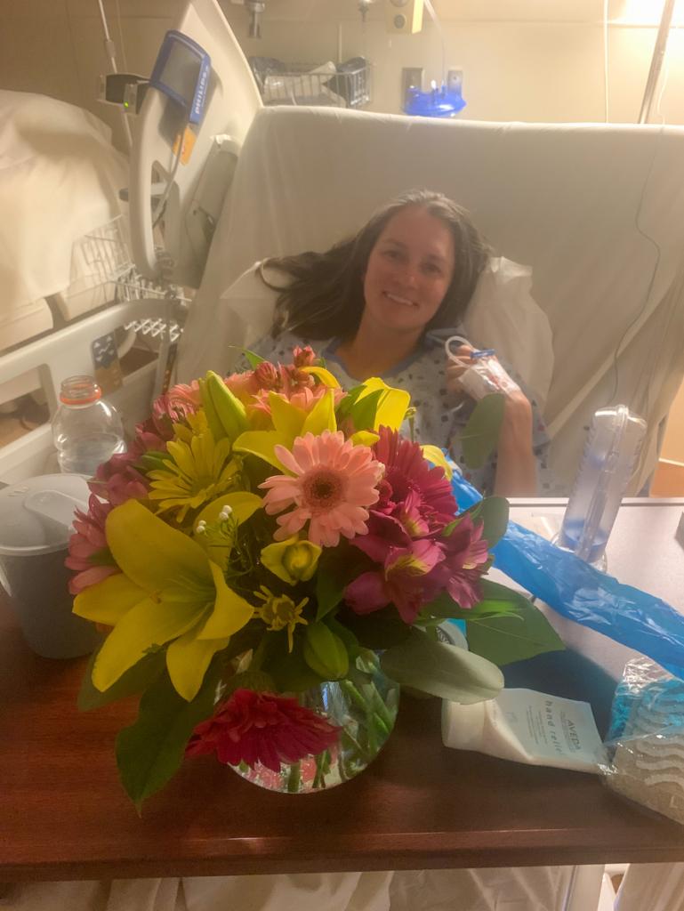 Flowers delivered to hospital