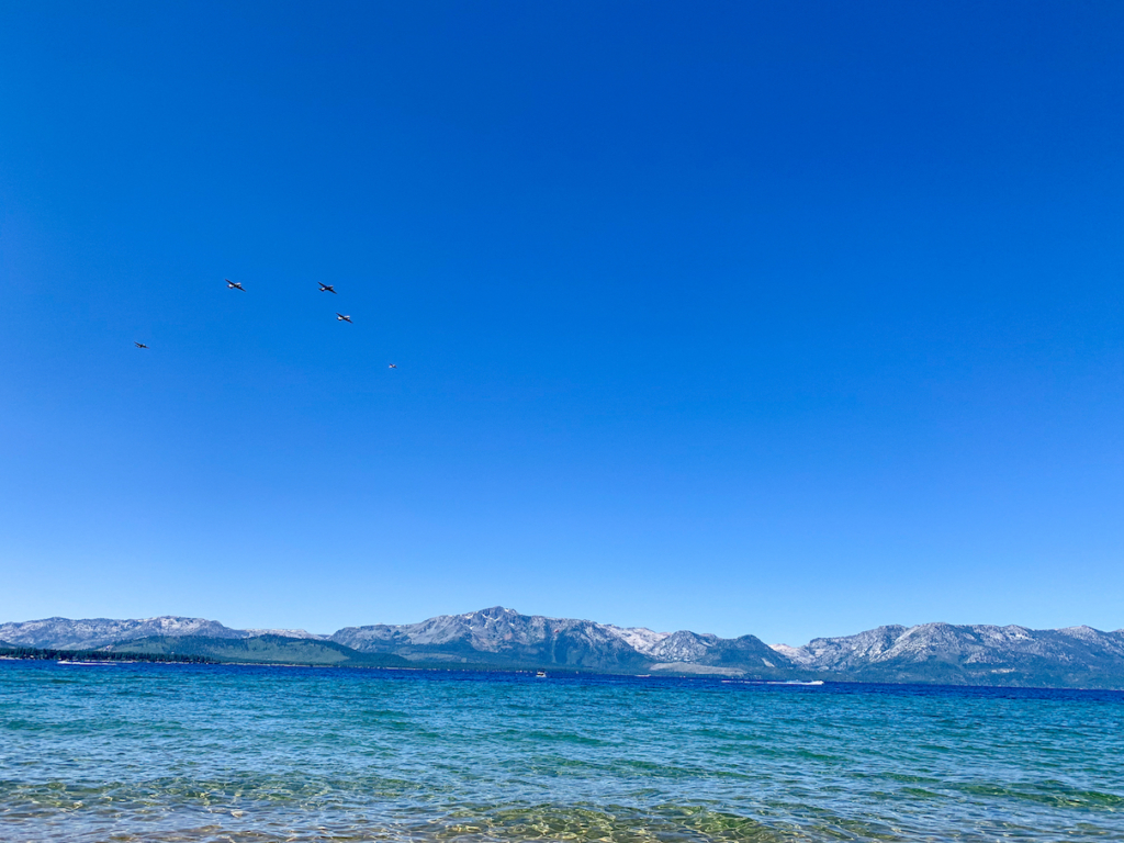 Fourth of July Lake Tahoe fly over