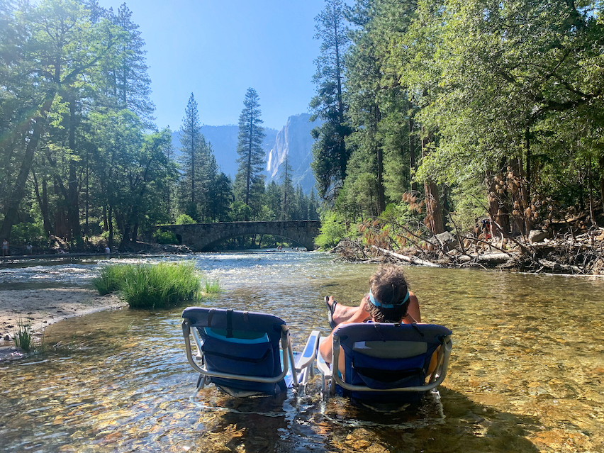 Merced River Relaxing in Yosemite Valley