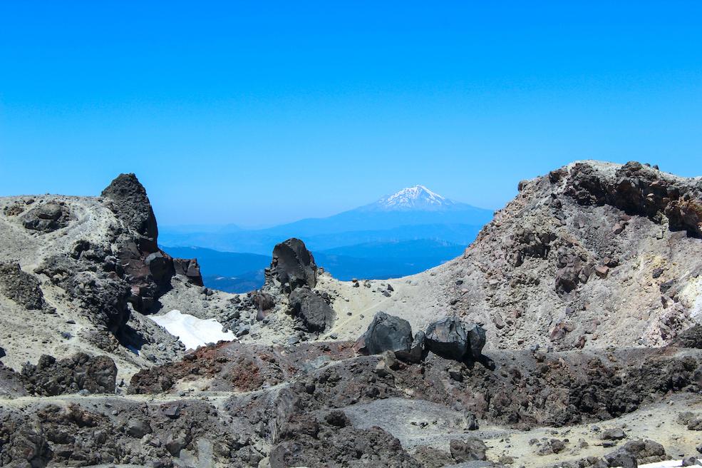 Mount Shasta behind Lassen Crater