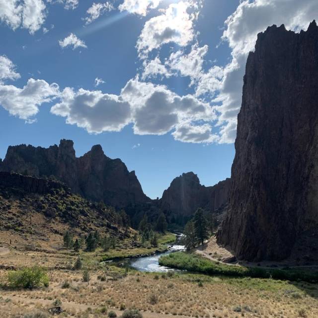 We played hookie from work yesterday afternoon to head to the nearby Smith Rock State Park to beat the weekend crowds and go for a hike to break up a long week. Definitely worth the drive!